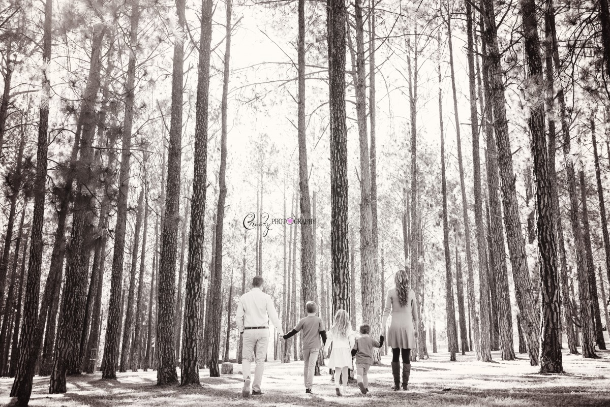 family forest photoshoot jhb